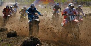 Motocrós Foto de archivo libre de regalías