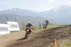 Motocrós MXGP Trentino ITALIA 2015 Cairoli #222 Foto de archivo libre de regalías