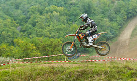 Motocroßkonkurrenz Lizenzfreies Stockfoto