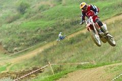 Motocroßkonkurrenz Lizenzfreie Stockfotos