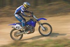 Motocroßmitfahrer Stockfotos