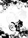 Motocroßplakathintergrund Stockfoto