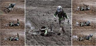 motocros коллажа Стоковое Изображение RF