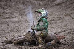 MOTOCROS, PRIX-SEVLIEVO GRANDE Fotos de Stock Royalty Free