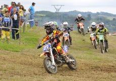 Motocross в Valdesoto, Астурии, Испании Стоковые Фотографии RF