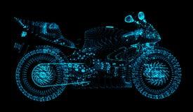Motocross состоит из кругов и точек Концепция спорт в стиле пункта иллюстрация вектора