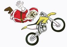 Motocross фристайла santa головы косточки Стоковая Фотография RF