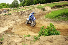 Motocross. Amateur anual autumn competition stock images