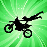 Motocross. Abstract motocross illustration background Royalty Free Stock Image