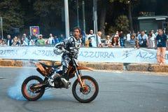 Motocross 2009 di stile libero. Raschiato Fotografia Stock Libera da Diritti