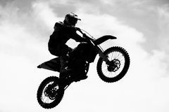 Motocross. Rider in action, Extreme sport royalty free stock images