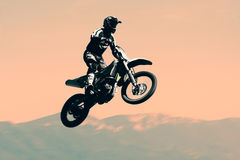 Motocross. Rider in action, Extreme sport stock image