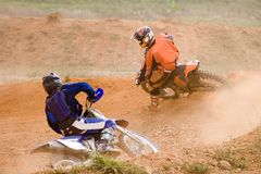 Motocross. Image of motocross participants in action stock photos