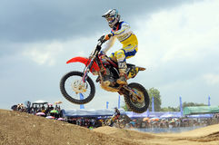 Motocross. NAN, THAILAND - JUN 03: An unidentified rider participates in the 3rd round (Class C Type) of Motocross 2012 Thailand motocross championship on June royalty free stock images