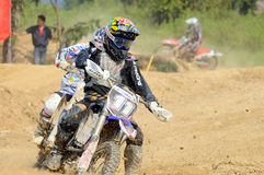 Motocross. NAN, THAILAND - JUN 03: An unidentified rider participates in the 3rd round (Class C Type) of Motocross 2012 Thailand motocross championship on June royalty free stock photos