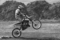 Motocross. The motorcyclist rode to motocross, behind dust Stock Images