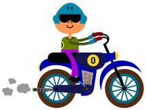 Motocross. Illustration of a motocross rider riding in a motorcycle Royalty Free Stock Photography