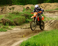 Motocross. Amateur anual autumn competition stock photography