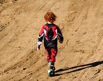 Motocross. Boy royalty free stock photo