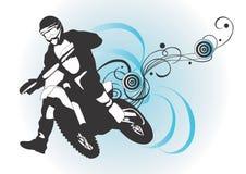 Motocross. Illustration of a motocross rider Royalty Free Stock Image