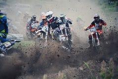 motocross arkivbild
