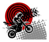 Motocross abstract background Stock Photos