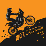 Motocross abstract background Royalty Free Stock Images