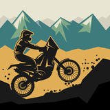 Motocross abstract background Stock Photo