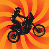 Motocross abstract background Stock Image