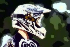 Motocross-abstrakter Hintergrund 018 Stockbild