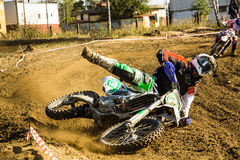 Motocross accident - crash Royalty Free Stock Photography