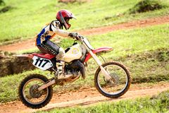 Motocross Action Royalty Free Stock Image