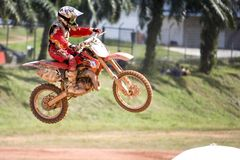 Motocross Action Stock Image