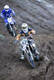 Motocross, Atanas Petrov 47. Royalty-vrije Stock Foto's