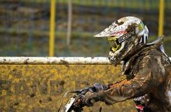 Motocross, Atanas Petrov 47. Lizenzfreies Stockbild