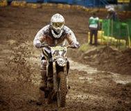 Motocross, Atanas Petrov 47. Stock Foto