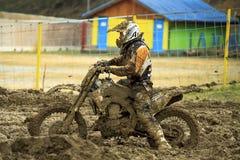 Motocross, Atanas Petrov 47. Stock Fotografie