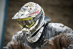 Motocross,Atanas Petrov 47. Royalty Free Stock Photography