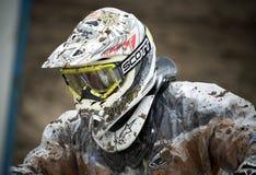 Motocross, Atanas Petrov 47. Royalty-vrije Stock Fotografie