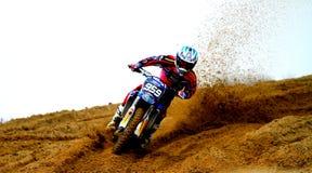 Motocross auf Sand Lizenzfreies Stockbild