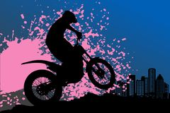 Motocross background Stock Photography
