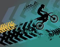 Motocross background. Abstract color illustration Royalty Free Stock Photos