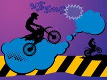 Motocross background Stock Image