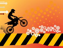 Motocross background. Abstract yellow color illustration Stock Photo
