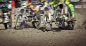 Motocross in Bali. Extreme competition of motocross in Bali Stock Images