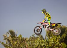 Motocross in Bali Stock Images