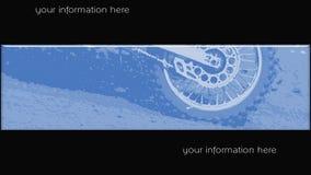 MotoCross banner 014 Stock Image