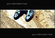 MotoCross banner 05. Abstract style motocross racing banner Royalty Free Stock Photo
