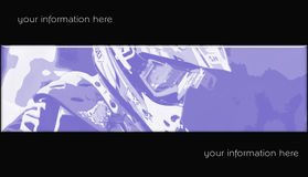 MotoCross banner 07. Abstract style motocross racing banner Royalty Free Stock Image
