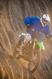 Motocross bike in a race Royalty Free Stock Images